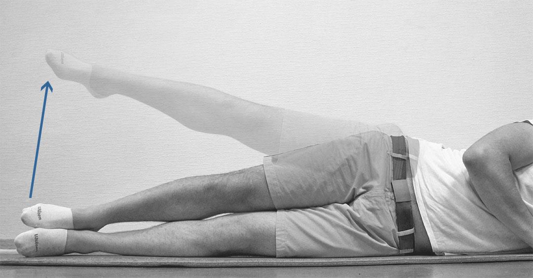 Отведение ноги лежа