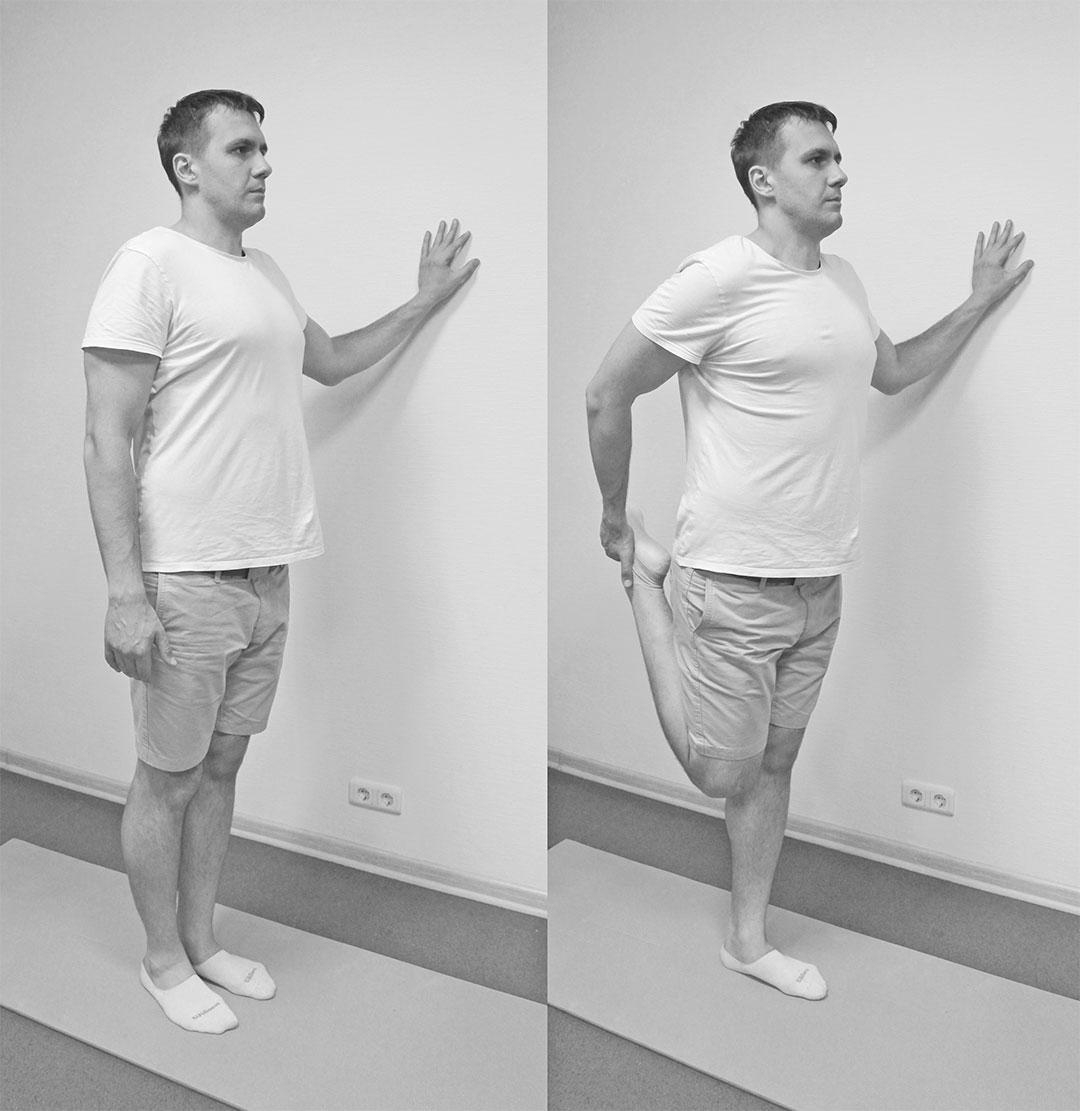 Растяжение четырехглавой мышцы