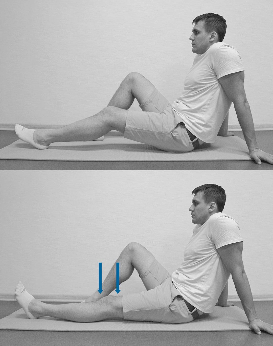 Прижимание колена