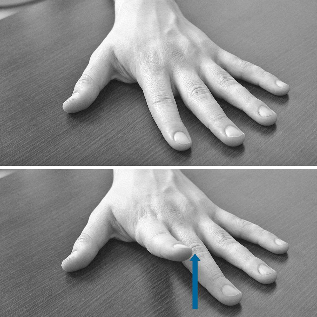 Поднятие пальца