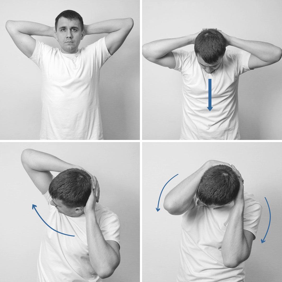 как расслабить мышцы шеи упражнения с фото современной