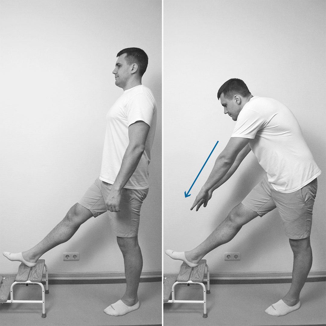 Растяжение задней поверхности ног
