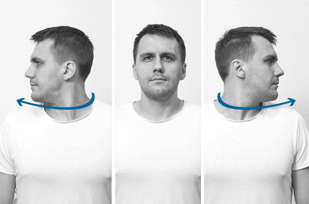 Активный поворот шеи