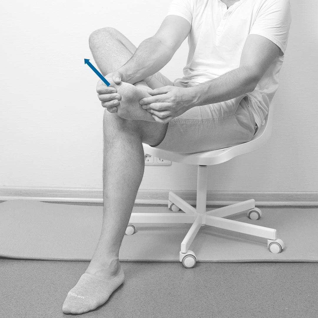 Подошвенный массаж сидя
