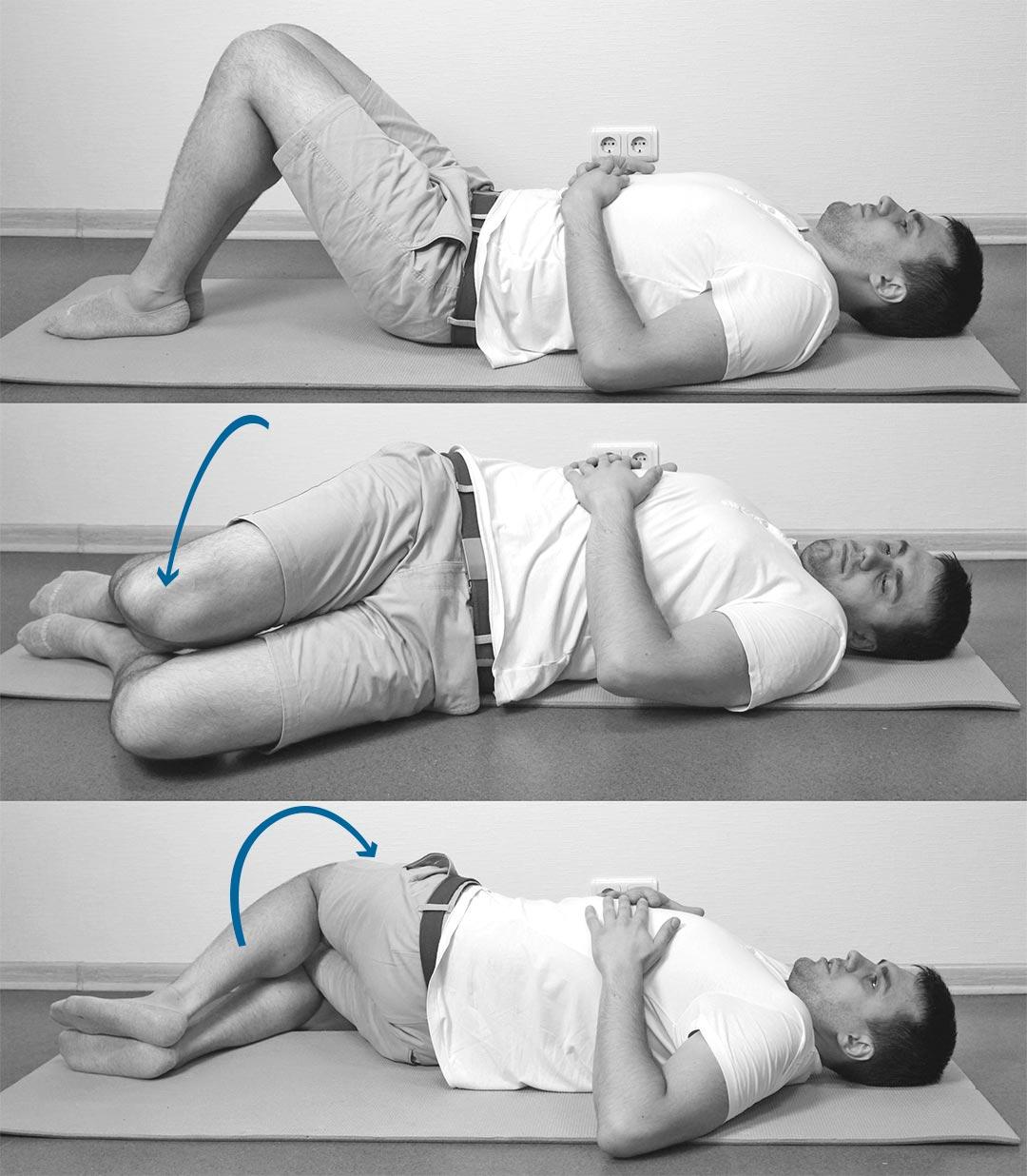 Растяжение квадратных мышц поясницы