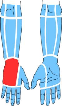 Упражнения при болях по тыльной поверхности запястья и кисти