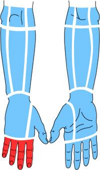 Упражнения при болях по тыльной поверхности пальцев кисти