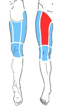 Упражнения при болях по передней поверхности бедра
